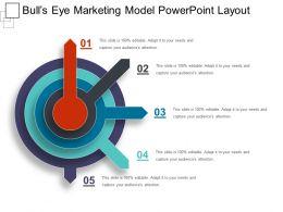 Bulls Eye Marketing Model Powerpoint Layout