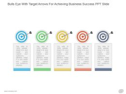 Bulls Eye With Target Arrows For Achieving Business Success Ppt Slide