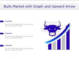 Bulls Market With Graph And Upward Arrow