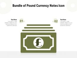 Bundle Of Pound Currency Notes Icon