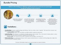 Bundle Pricing Offered Jointly Ppt Powerpoint Presentation Styles Microsoft