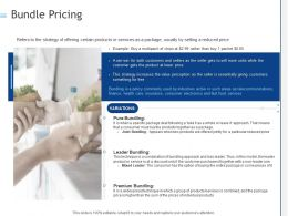 Bundle Pricing Ppt Powerpoint Presentation Model Graphics Example