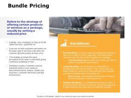 Bundle Pricing Ppt Powerpoint Presentation Portfolio Outline
