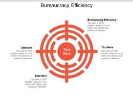 Bureaucracy Efficiency Ppt Powerpoint Presentation Pictures Layout Cpb
