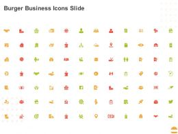 Burger Business Icons Slide Ppt Powerpoint Presentation Pictures