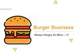 Burger Business Powerpoint Presentation Slides