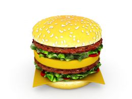 Burger For Food Chain And Health Theme Stock Photo