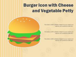 Burger Icon With Cheese And Vegetable Petty
