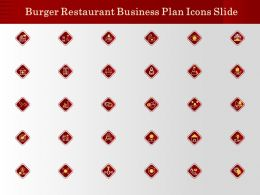 Burger Restaurant Business Plan Icons Slide Ppt Powerpoint Presentation Model Graphic Images