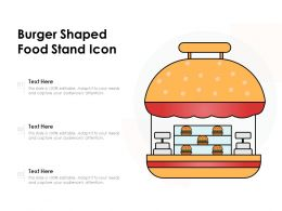 Burger Shaped Food Stand Icon