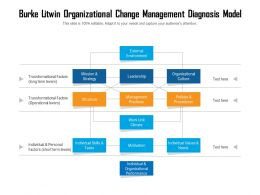 Burke Litwin Organizational Change Management Diagnosis Model