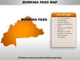 Burkina Faso Country Powerpoint Maps