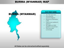 Burma Country Powerpoint Maps