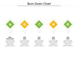 Burn Down Chart Ppt Powerpoint Presentation Ideas Design Templates Cpb