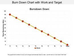 Burn Down Chart With Work And Target
