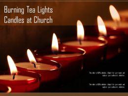 Burning Tea Lights Candles At Church