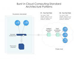 Burst In Cloud Computing Standard Architecture Patterns Ppt Diagram