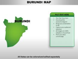Burundi Country Powerpoint Maps