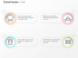 Bus Plane Passport Documents Ppt Icons Graphics