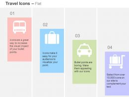 Bus Suitcase Car Cart Travel Ideas Ppt Icons Graphics