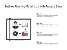 Busines Planning Model Icon With Process Steps