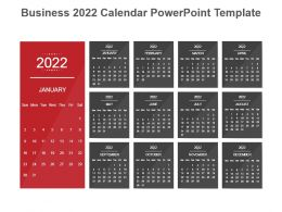 Business 2022 Calendar Powerpoint Template