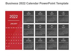 Business 2022 Calendar Powerpoint Template