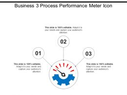 Business 3 Process Performance Meter Icon