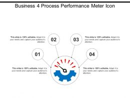 Business 4 Process Performance Meter Icon