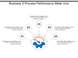 Business 5 Process Performance Meter Icon