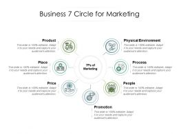 Business 7 Circle For Marketing