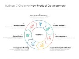 Business 7 Circle For New Product Development