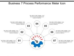 Business 7 Process Performance Meter Icon
