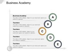Business Academy Ppt Powerpoint Presentation File Infographic Template Cpb