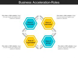 Business Acceleration Roles Ppt Design Templates
