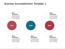 Business Accomplishment Template 2017 To 2019 Ppt Presentation Slides