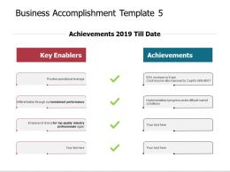 Business Accomplishment Template Achievements Ppt Powerpoint Slides