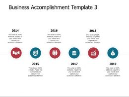 Business Accomplishment Template Pillars Ppt Powerpoint Slides