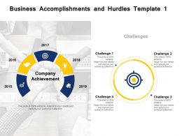 Business Accomplishments And Hurdles Template Challenges Ppt Powerpoint Presentation