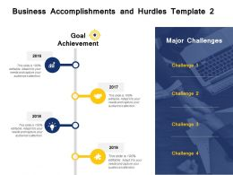 Business Accomplishments And Hurdles Template Goal Ppt Powerpoint Presentation File