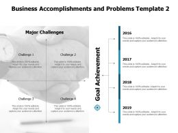 Business Accomplishments And Problems Achievement Ppt Powerpoint Presentation