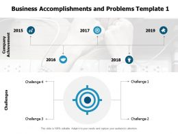 Business Accomplishments And Problems Challenges Ppt Powerpoint Presentation Summary