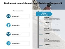 Business Accomplishments And Problems Communication A115 Ppt Powerpoint Presentation