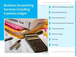 Business Accounting Services Including Expense Ledger