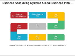 Business Accounting Systems Global Business Plan Business Entity