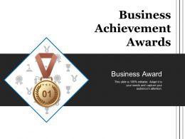 Business Achievement Awards Sample Of Ppt Presentation