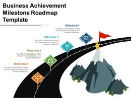 Business Achievement Milestone Roadmap Template Good Ppt Example