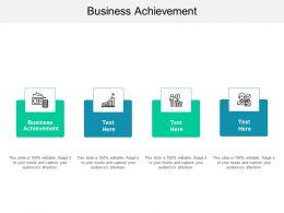 Business Achievement Ppt Powerpoint Presentation Summary Show Cpb