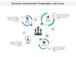 Business Achievement Presentation With Icons