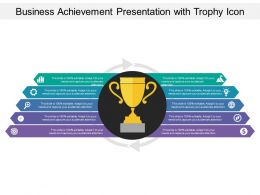 Business Achievement Presentation With Trophy Icon